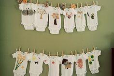 Onesie theme baby shower