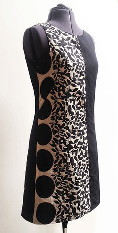 monochrome shift dress ~ free pattern ~ Sew Different