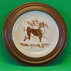 1999 Laurelwood Limited Edition (150) Akita Dog Breed Collector Plate With Frame