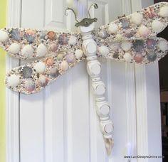 Dragonfly Seashell Wings