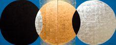 Kenji Yoshida, La Vie, oil and metals on canvas