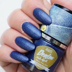 .@Erin B B Duncan Ritchey | Finally!! A swatch of Denim Effect by Kubiss  It's basicly a blue polish pack... | Webstagram