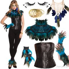 Be proud! Creating a look from 100s of accessories = brilliant adult Halloween costume. Click to strut your stuff as a pretty peacock like no other! #BeACharacter