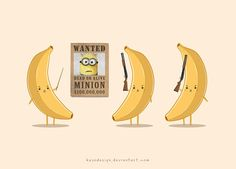 Top 52 funny Minions, Top 52 funny Minions of the hour, Free Top 52 funny Minions, Cute Top 52 funny Minions, Today Top 52 funny Minions Cute Puns, Funny Puns, Memes Lindos, Banana Art, Minions Love, Funny Illustration, Cute Doodles, Humor Grafico, Funny Design