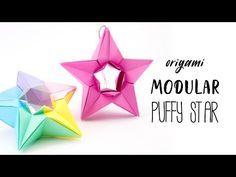 Modular Origami Puffy Star Tutorial (Salman Ebrahimi) Paper Kawaii - YouTube