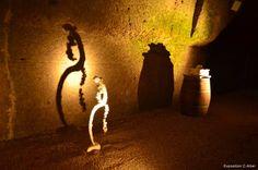 Follow the troglodyte cellar guide.