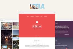 Leela – One Page HTML Template by Doctype on @creativemarket