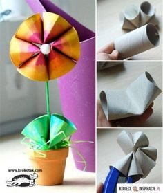 cool and available materials :) #diy #paper #flower