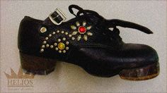 HELIOS custom order, mounted studs and jewel on girl's Irish dancing hard shoes. (order from Japan)