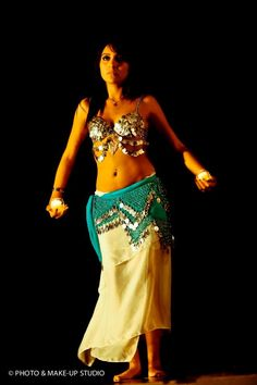 Belly dance with candles