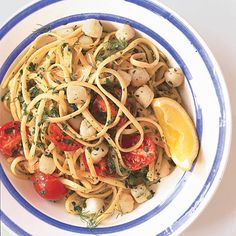 Linguine with Bay Scallops, Fennel, and Tomatoes and wine suggestions. At the bottom of the page are several other scallop, and linguine, recipes that are interesting to me. Seafood Recipes, Pasta Recipes, Appetizer Recipes, Cooking Recipes, Clam Recipes, Linguine Recipes, Recipes Dinner, Dinner Ideas, Fennel Recipes