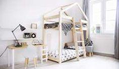 Łóżko dziecięce drewniane Piętrowe MILA DMP - DOMEK - SOLIDNE