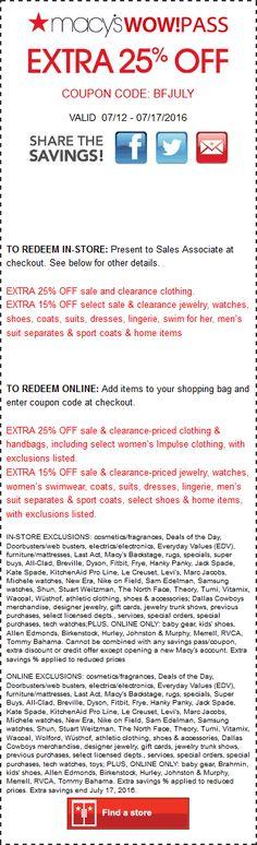 59b5b08952a92e Macys coupon   Macys promo code from The Coupons App. Extra off at Macys