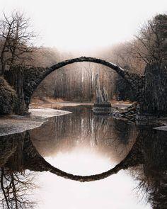 Josh Perrett (aka josh.perrett on Instagram).    This is Devil's Bridge in Rakotzbrücke, Germany