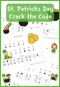 Free Worksheets: St. Patrick's Day Crack the Code Printable Set (Instant Download) | Free Homeschool Deals ©