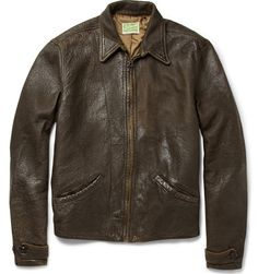Levi's Vintage Clothing 1930s Distressed Leather Jacket. From Skyfall.