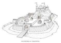 Knights theme activities and coloring pages