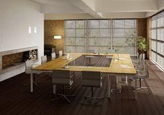 Escritorio de oficina modular operativo IDEA+ 01 by Quadrifoglio Sistemi d'Arredo diseño Centro Design Quadrifoglio
