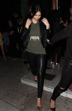 Kendall Jenner in Kanye West shirt Yeezus