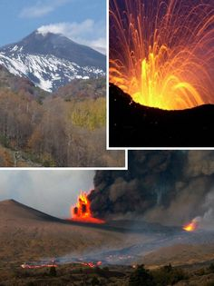 Mt Etna-Italy. March 2011 to March 2012: Etna erupted four times
