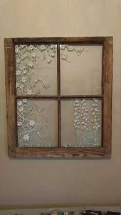 Window Design, Styles, And Inspiration – Voyage Afield Old Window Art, Window Pane Art, Old Window Decor, Old Window Frames, Window Ideas, Painted Window Panes, Window Paint, Window Glass, Window Wall