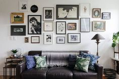 DOMINO:How to Create a Gallery Wall in a Tiny Apartment