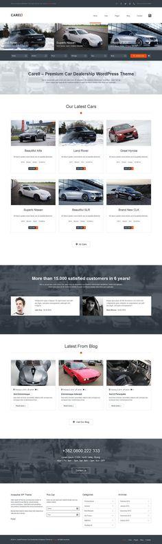 AutoTrader | Auto WordPress Theme | Graphic & visual design ...