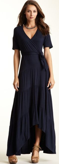 Easy Breezy Early Fall Beauty Loveappella Hi-Lo Tiered Maxi Dress ♥✤ | KeepSmiling | BeStayBeautiful