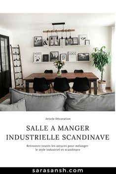 Do you want to treat yourself to a Scandinavian industrial dining room? I give you all my tips for mixing industrial and Scandinavian style! # DécorationPlantes Source by mllemelo Industrial Scandinavian, Industrial Dining, Scandinavian Style, Tiny Dining Rooms, Dining Room Design, Interior Design Living Room, Living Room Decor, Interior Decorating, Küchen Design