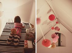 A perfect fort interior from See Jane Blog