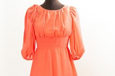 Orange 60's chiffon maxi dress from Chronically Vintage (Etsy)