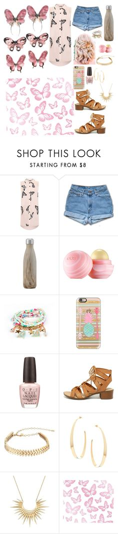 """""""Fly away like a butterfly """" by erinlarson0226 ❤ liked on Polyvore featuring WearAll, West Elm, Eos, Casetify, OPI, City Classified, Rebecca Minkoff, Lana and Celine Daoust"""