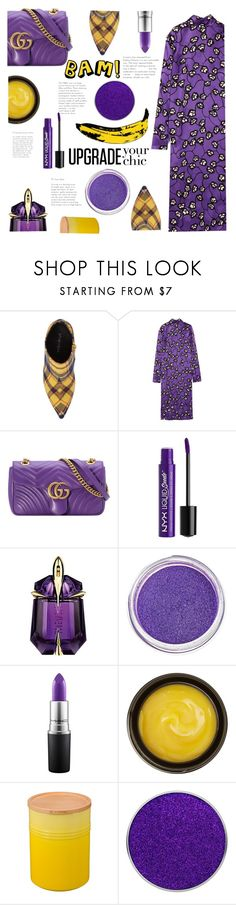 """purple"" by saddenseven ❤ liked on Polyvore featuring Jeffrey Campbell, Marni, Gucci, Charlotte Russe, Thierry Mugler, Manic Panic NYC, MAC Cosmetics, de Mamiel, Le Creuset and Andy Warhol"