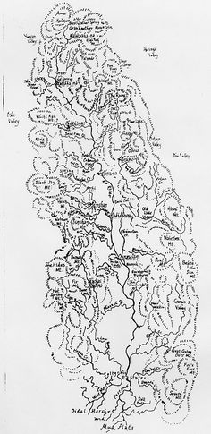 """The Valley of the Na and the Nine Towns on the River, from Ursula K. Le Guin's """"Always Coming Home"""""""