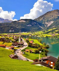 Summer in Grindelwald, Switzerland. Beautiful Places In The World, Beautiful Places To Visit, Places Around The World, Travel Around The World, Wonderful Places, Around The Worlds, Amazing Places, Dream Vacations, Vacation Spots