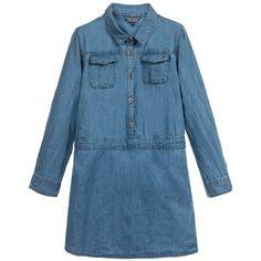 Blue Denim Shirt Dress, Tommy Hilfiger, Girl
