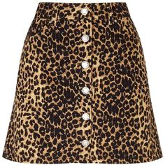 Miss Selfridge Leopard Print Denim Skirt ($61) ❤ liked on Polyvore featuring skirts, miss selfridge, assorted, leopard print midi skirt, denim midi skirt, calf length skirts and mid-calf skirts