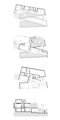 productora                                                                                                                                                     Más Dream House Plans, Modern House Plans, Small House Plans, Architecture Graphics, Architecture Plan, Fairytale House, Floor Plan Layout, Plan Drawing, House Layouts