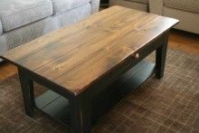 Riverside Coffee Table- Sale  Was: $533.00  Sale: $495.00    Gorgeous! Rockwood Dark top with Black Rub base