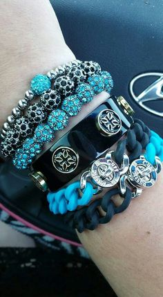 Turquoise & Black Stack!