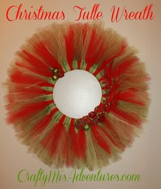 Crafty Home Improvement (Mis)Adventures: More Tulle Wreath Creations