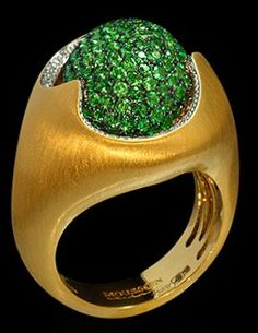 Mousson Atelier Caramel Collection Gold Tsavorite & Diamond Ring R0034-0/7
