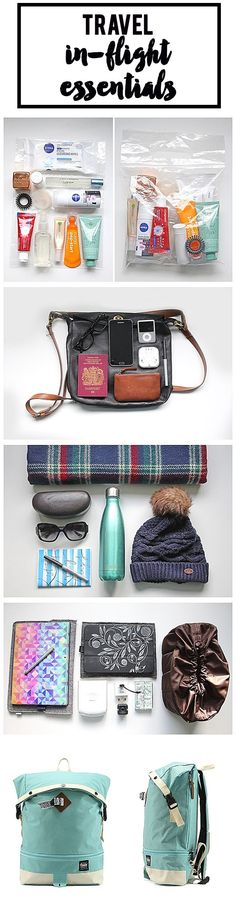 My in-flight travel essentials. The must haves for a long flight.