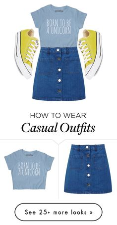 """// Casual 1# //"" by letlove on Polyvore featuring Miss Selfridge and Converse"