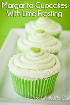 Margarita Cupcakes With Tequila Glaze & Lime Frosting - Love From The Oven Mini Cakes, Cupcake Cakes, Margarita Cupcakes, Salty Cake, Savoury Cake, Let Them Eat Cake, Cupcake Recipes, Cupcake Flavors, Just Desserts