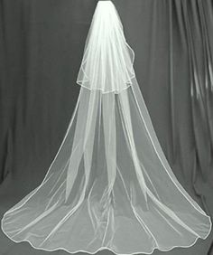 Wedding 2 Tier Cathedral Swarovski Crystal Rhinestones Bridal Veil