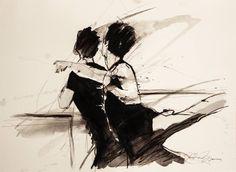 """Saatchi Art Artist Nataša Bezić; Painting, """"Dancers"""" #art"""
