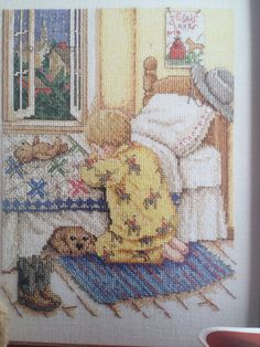 CCS Bedtime Prayers Cross Stitch Pattern by by EllieMarieDesigns