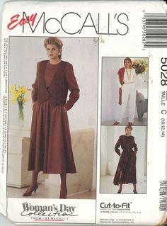 McCalls 5028 Misses Vest, Jumpsuit and Dress UNCUT - Sewing Patterns