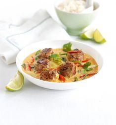 Thai meatball coconut curry